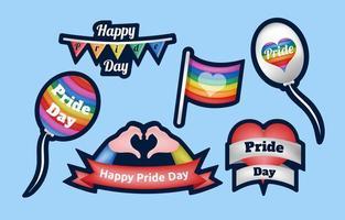 autocolante de feliz dia do orgulho vetor