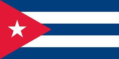 cuba oficialmente bandeira vetor