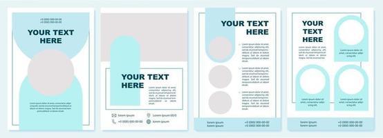 informações sobre modelo de folheto azul comercial vetor