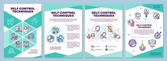modelo de folheto de técnicas de autocontrole vetor