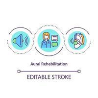 ícone do conceito de reabilitação auditiva vetor
