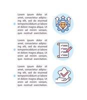 definindo expectativas ícones de linha de conceito com texto vetor