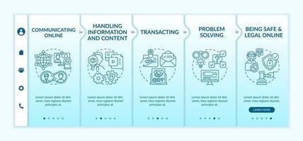 modelo de vetor de integração de habilidades digitais essenciais
