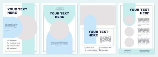 conteúdo do projeto modelo de folheto circular azul vetor