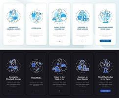 obtido surdez onboarding tela da página do aplicativo móvel com conceitos vetor