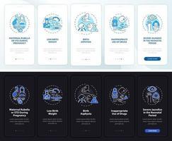 Tela da página do aplicativo móvel integrado para surdez inata com conceitos vetor