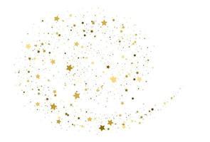vetor de confete ouro estrelas voadoras