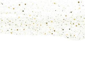 fundo de confete dourado claro vetor