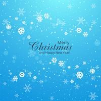 Lindo cartão de feliz Natal com flocos de neve backgrou