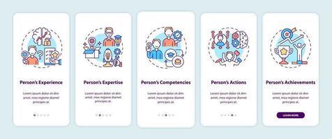 componentes de marca pessoal integrando a tela da página do aplicativo móvel com conceitos vetor
