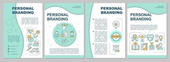 modelo de folheto de marca pessoal vetor