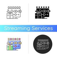 ícone de streaming de programas de tv vetor