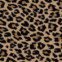 padrão sem emenda de pele de leopardo moderna vetor