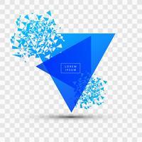 Explosão e fragmentação azul quadrado ilustração vector