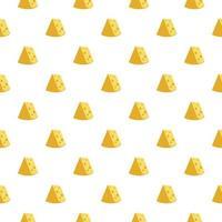 padrão sem emenda de queijo. ilustração vetorial vetor