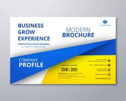 Design profissional de modelo de panfleto de negócios vetor
