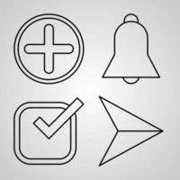 material e design ícone conjunto ilustração vetorial vetor