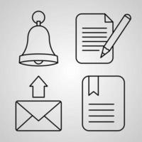 coleção de símbolo da web em fundo branco. ícones de esboço da web vetor