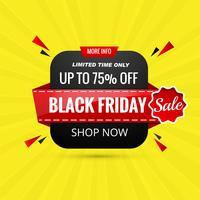 Vetor de modelo de fundo de banner preto vendas sexta-feira
