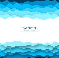 Papercut abstrato azul colorido vector design