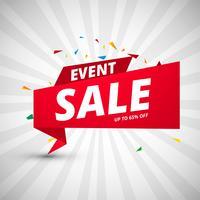 Modelo de design colorido de banners de venda de evento vetor