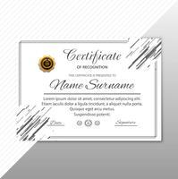 Fundo geométrico do modelo moderno certificado vetor