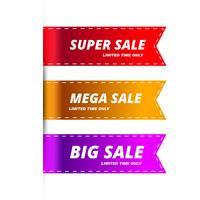 Modelo colorido de banners de venda moderna vetor
