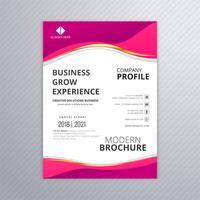 Design de onda colorida de cartão de modelo de panfleto profissional de negócios
