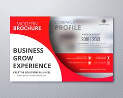 Modelo de folheto empresarial moderno profissional design illustrati vetor