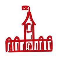 ícone de estilo de desenho de mão canadense castelo vetor