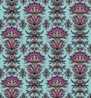 lindas flores em um fundo azul vetor
