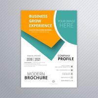 Brochura de profissional de negócios modelo colorido design criativo