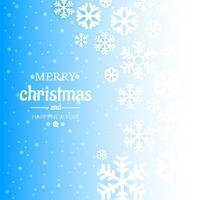 Fundo azul inverno com vetor de design de floco de neve