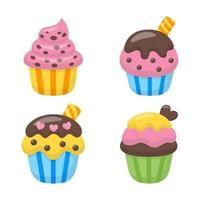 conjunto de vetores de cupcake