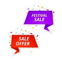 Design de modelo de banners de venda criativa vetor