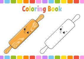 livro de colorir para crianças. Personagem de desenho animado. ilustração vetorial. página de fantasia para crianças. silhueta de contorno preto. isolado no fundo branco. vetor