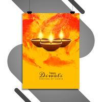 Modelo de folheto religioso feliz Diwali feliz vetor