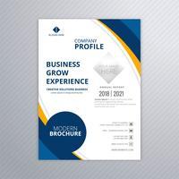 Modelo colorido de brochura de negócios modernos com vetor de onda