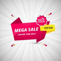 Mega oferta Banner Design ilustração vector