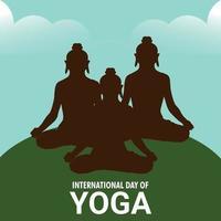 ilustração em vetor de ackground dia internacional de ioga