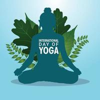 fundo de celebração do dia internacional de ioga vetor