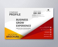 Negócios profissionais panfleto modelo cartão fundo colorido vetor