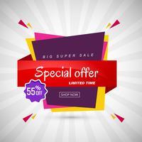 Oferta especial venda banner design criativo vetor