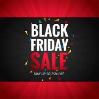Fundo de cartaz de venda sexta-feira negra linda