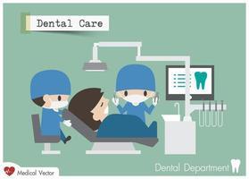 unidade de atendimento odontológico em design plano de vetor de hospital