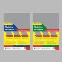 modelo de folheto de educação aberta de admissão vetor