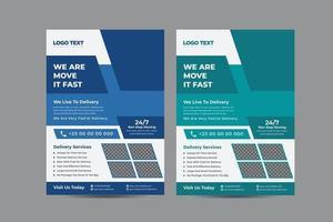 design de folheto de serviço de entrega vetor