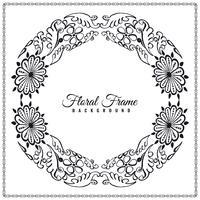 Design de fundo abstrato elegante moldura floral vetor
