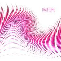 Projeto de onda colorida elegante abstrato de meio-tom vetor