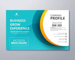 Modelo de panfleto de negócios profissional design ilustração vector